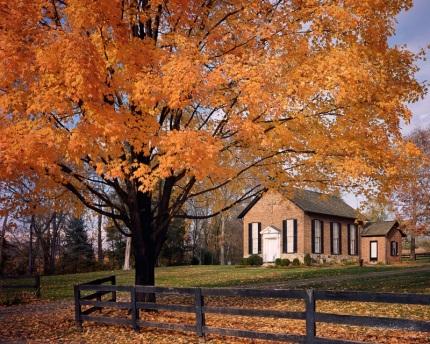 Autumn at Oatlands Church