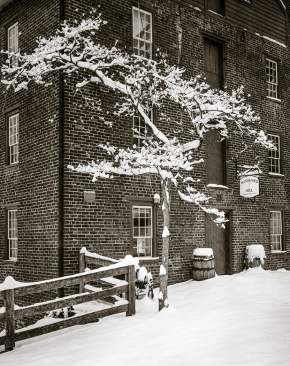 March Snow at Waterford Mill