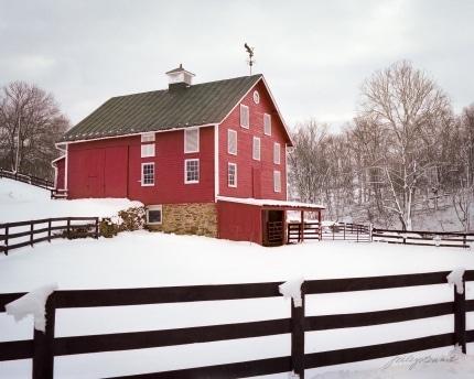 Unison Barn in Winter