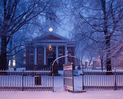 Winter Twilight Leesburg Courthouse